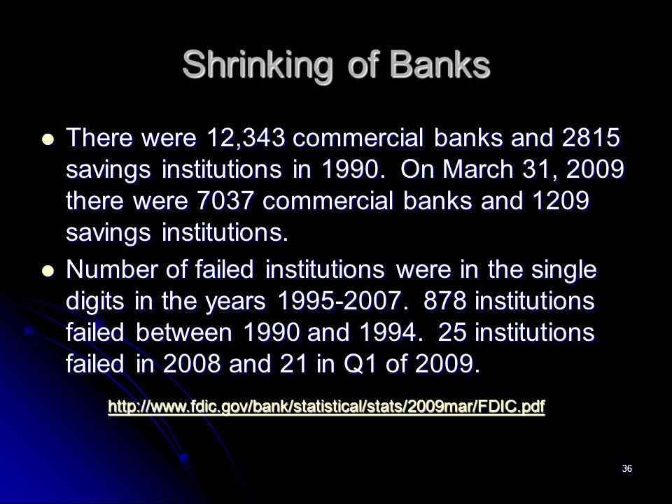 35 Bank Consolidation and Number of Banks
