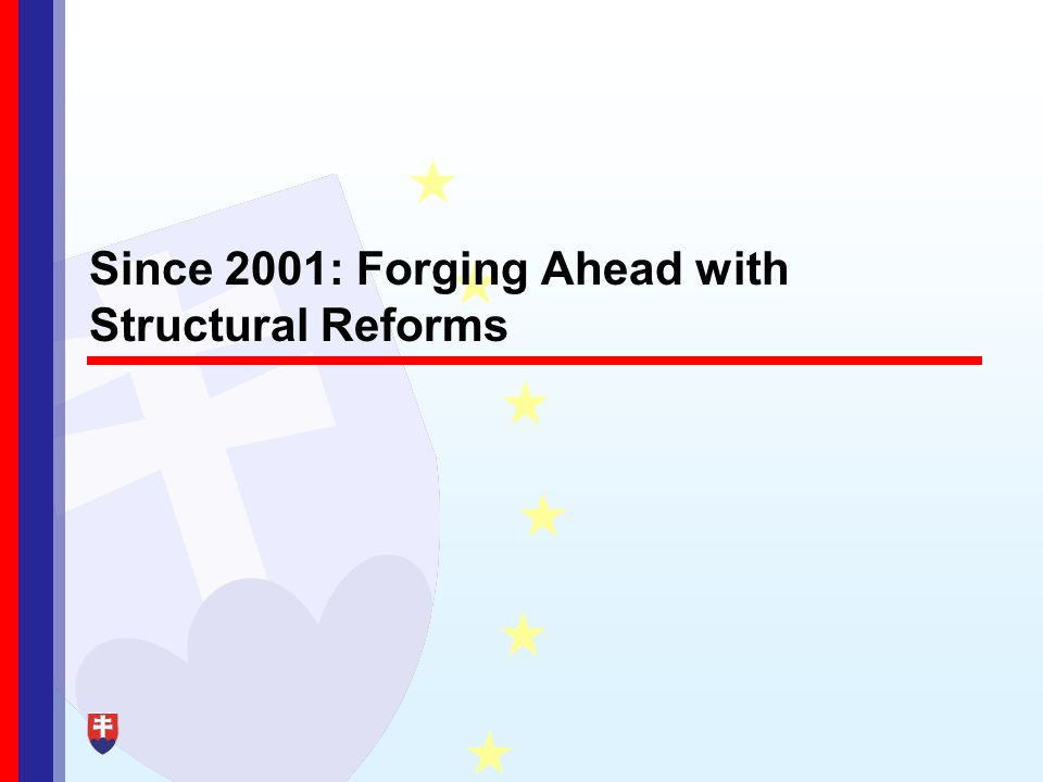 Since 2001: Forging Ahead with Structural Reforms