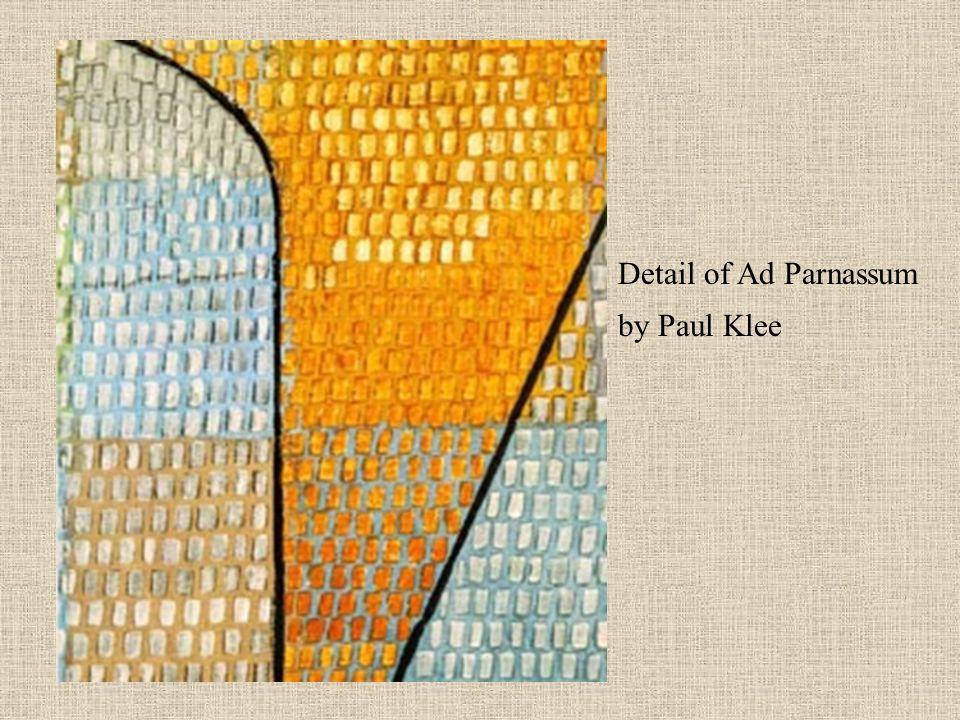 Detail of Ad Parnassum by Paul Klee