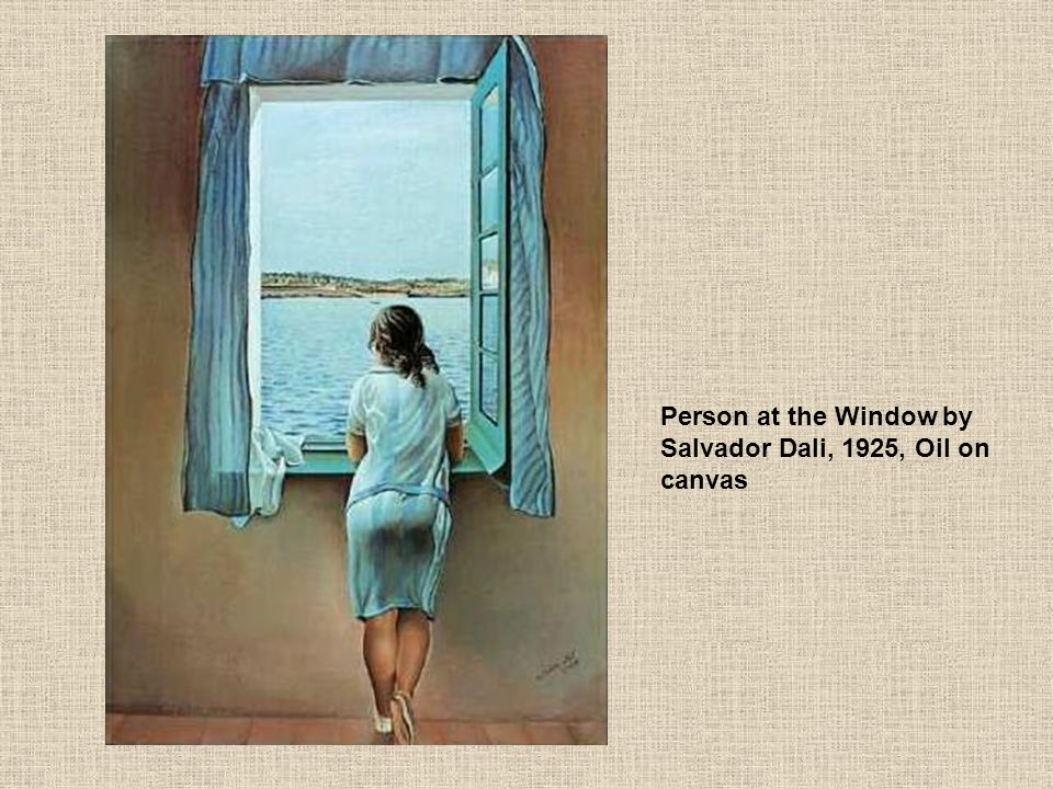 Person at the Window by Salvador Dali, 1925, Oil on canvas