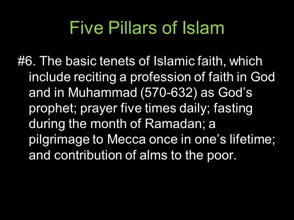 Five Pillars of Islam #6.