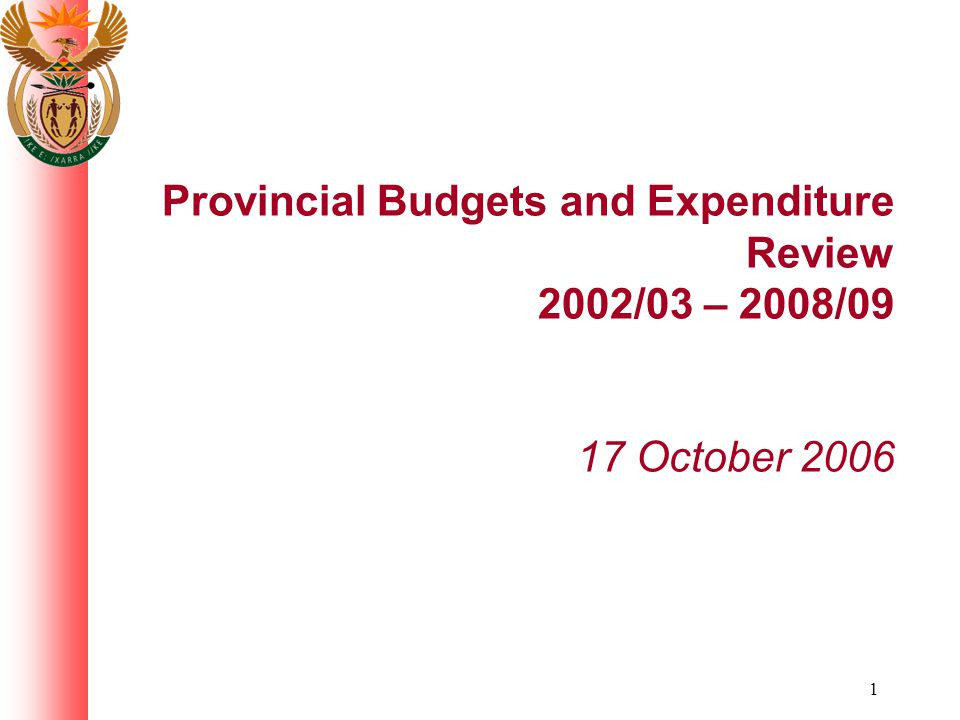 42 Provincial expenditure by programme