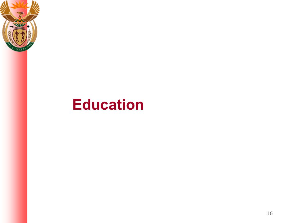 16 Education