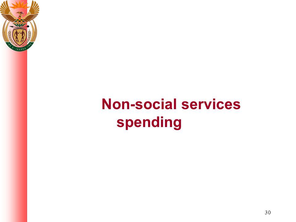 30 Non-social services spending