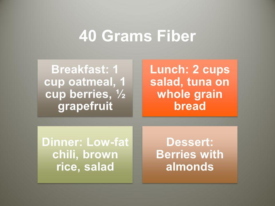 40 Grams Fiber