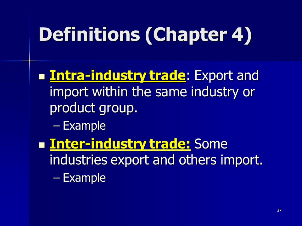 26 Question 3 International trade tends to: International trade tends to: –A) have no effect on factor prices.