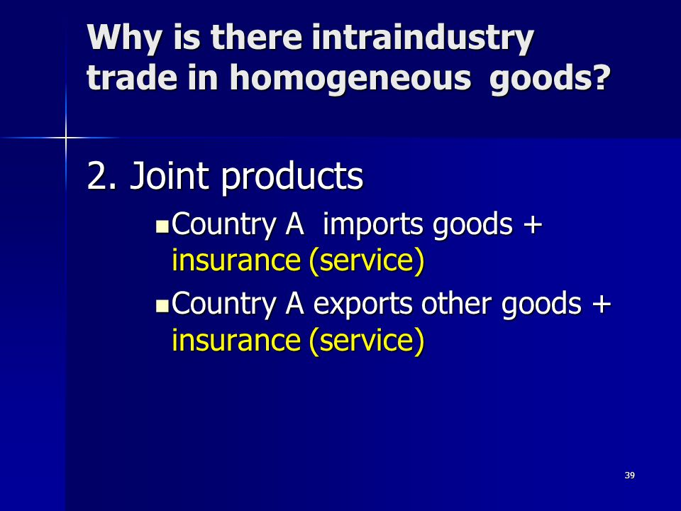 38 Question 3 International trade tends to: International trade tends to: –A) have no effect on factor prices. –B) cause the price of the scarce facto