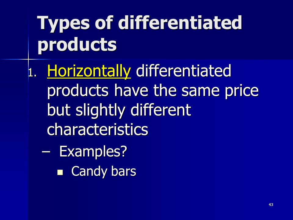 42 Explanations of Intraindustry Trade in Homogeneous Products 5.