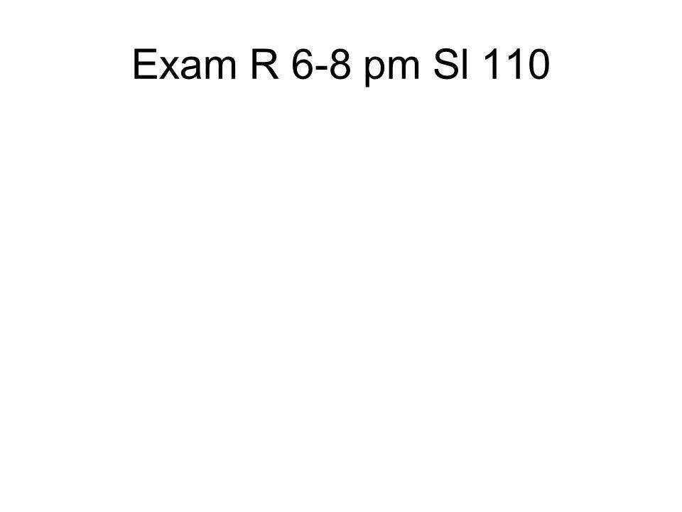 Exam R 6-8 pm Sl 110