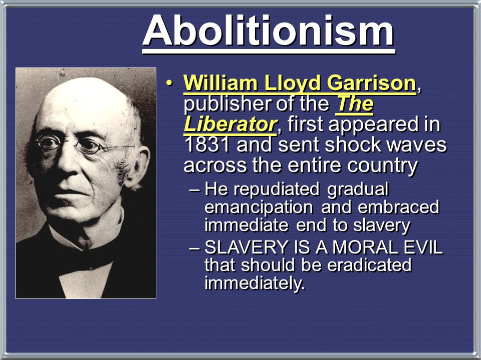 Abolitionist Movement   Create a free slave state in Liberia, West Africa.