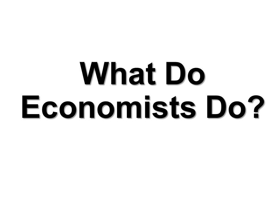 Chapter 2 Observing and Explaining the Economy What Do Economists Do?
