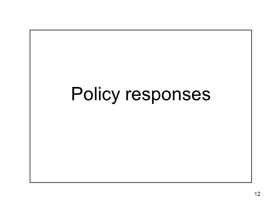 12 Policy responses