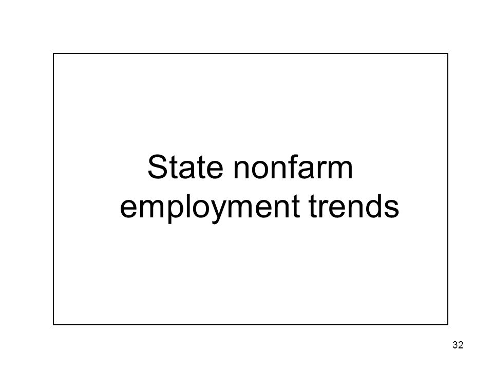 32 State nonfarm employment trends