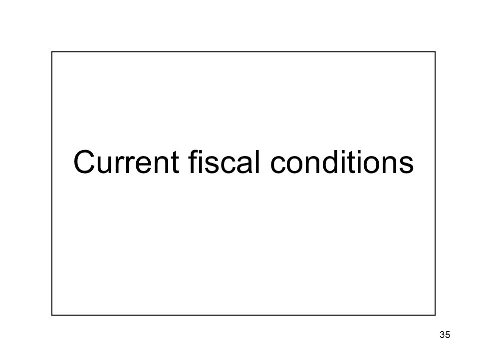 35 Current fiscal conditions