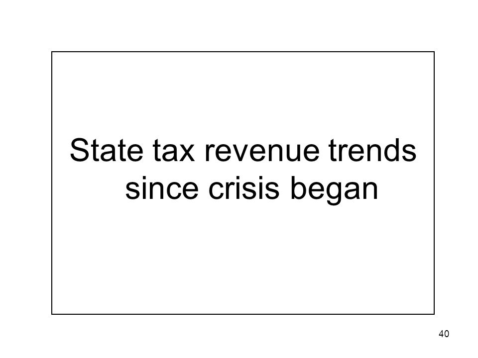 40 State tax revenue trends since crisis began