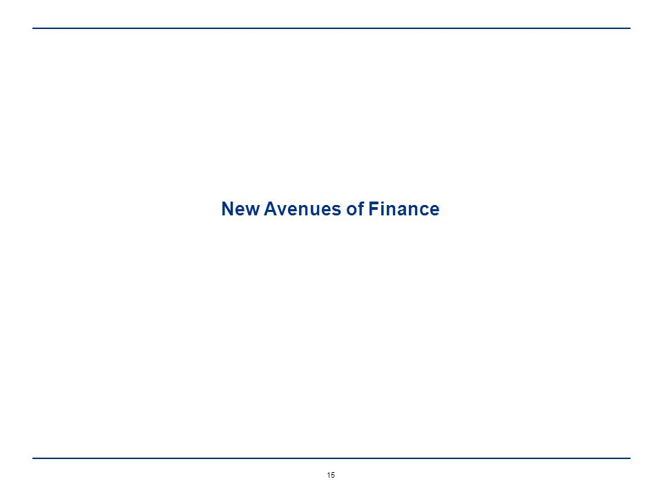15 New Avenues of Finance