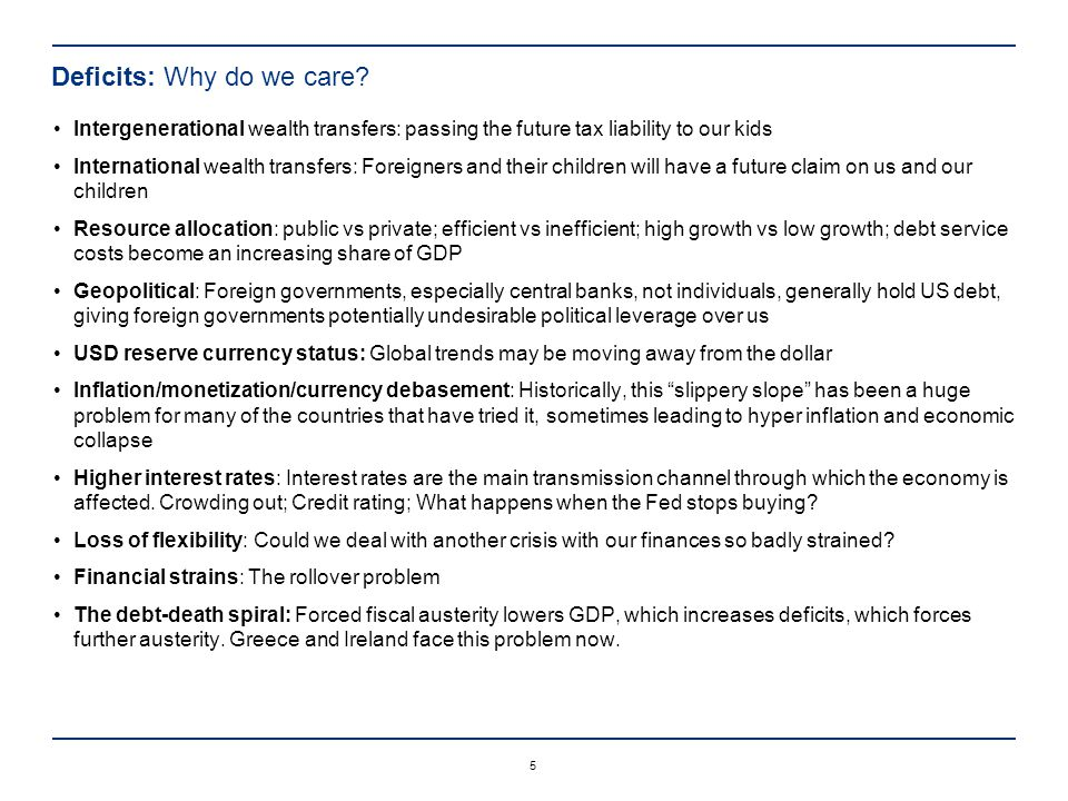 5 Deficits: Why do we care.