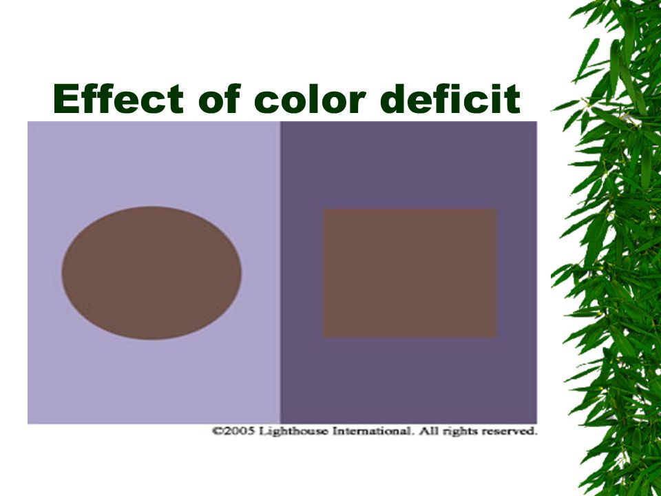 Effect of color deficit