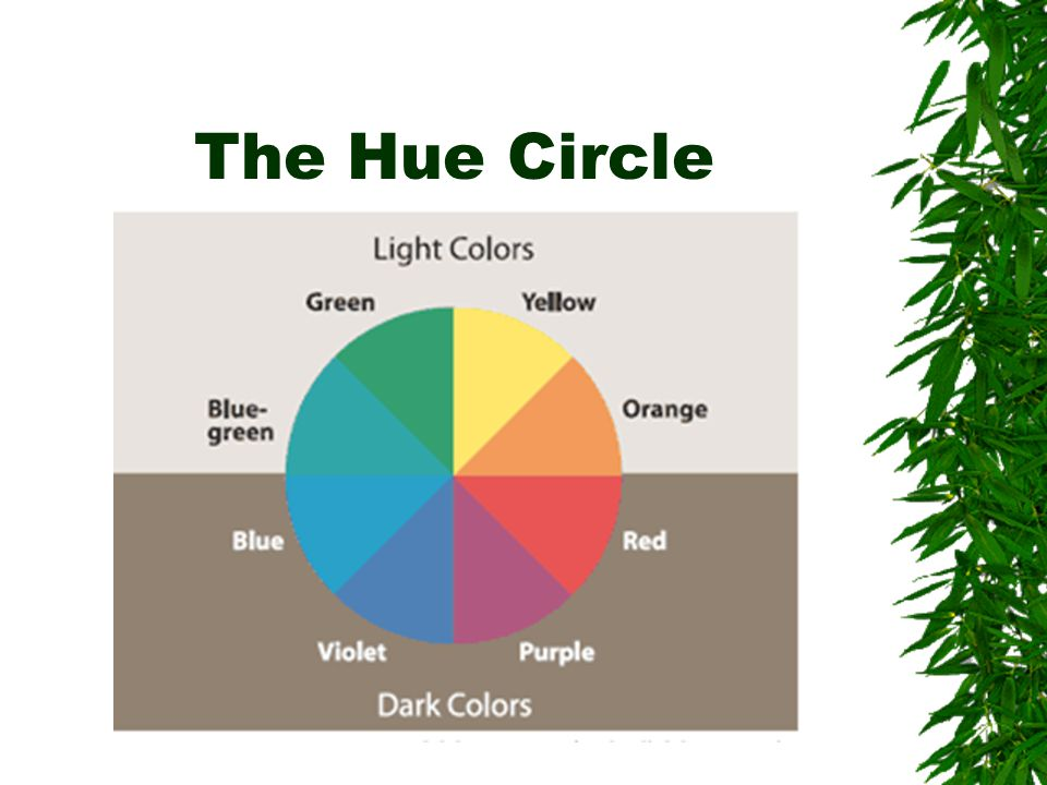 Dark color w/ light color  Choose dark colors with hues from the bottom half of the hue circle against light colors from the top half of the circle.