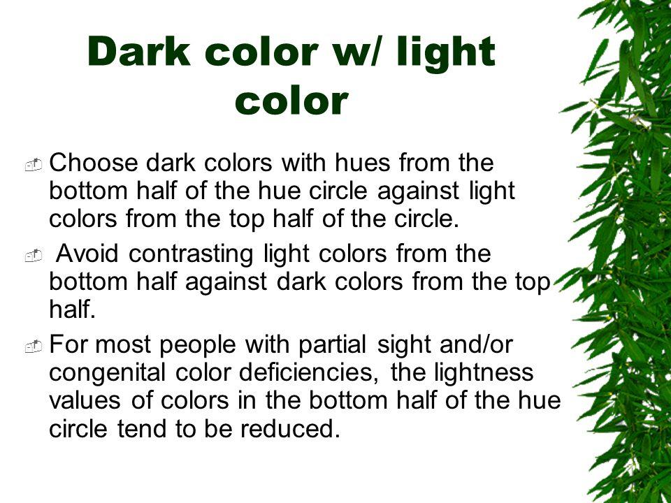 Effect of color deficit
