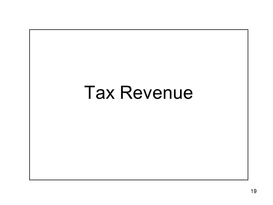 19 Tax Revenue