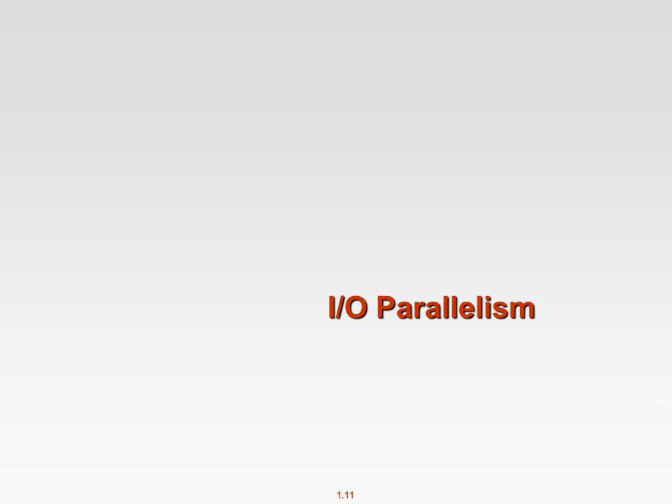 1.11 I/O Parallelism