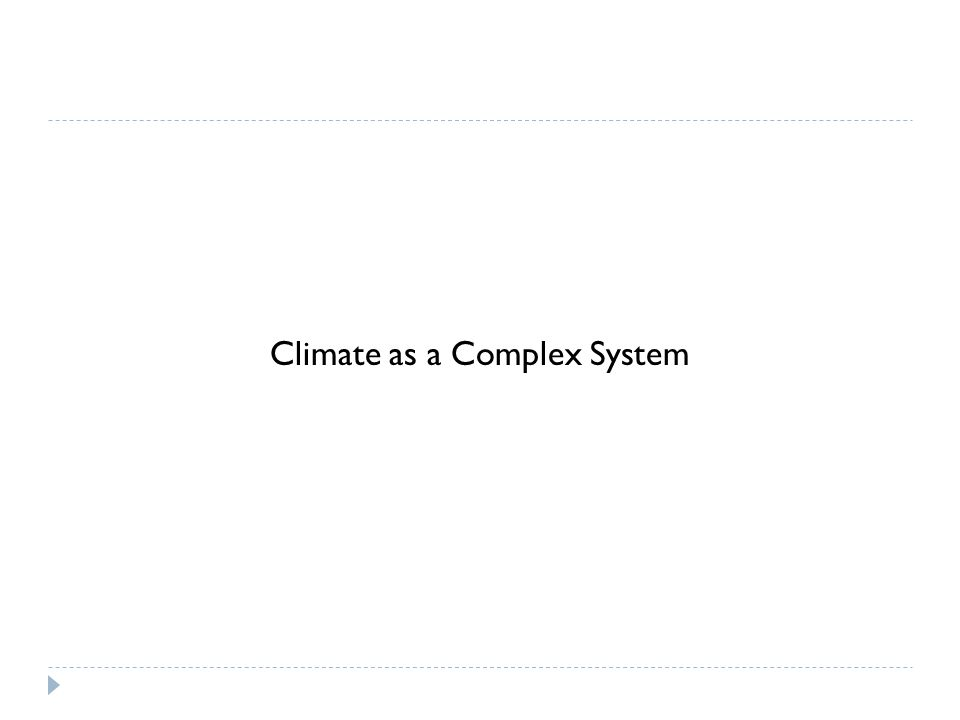 Climate as a Complex System