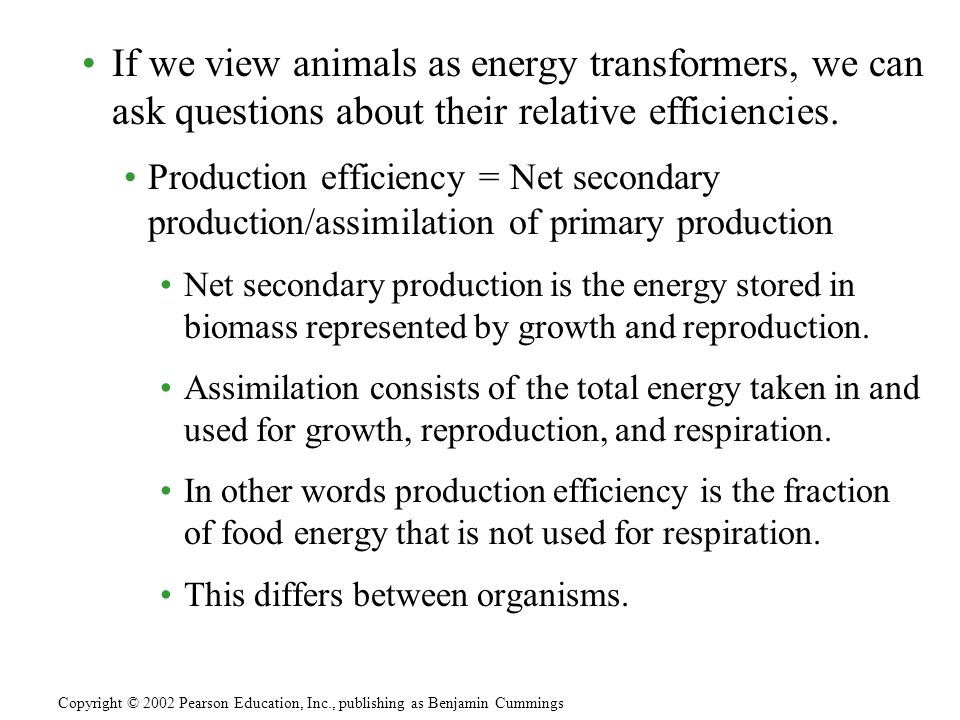 Trophic Efficiency and Ecological Pyramids.