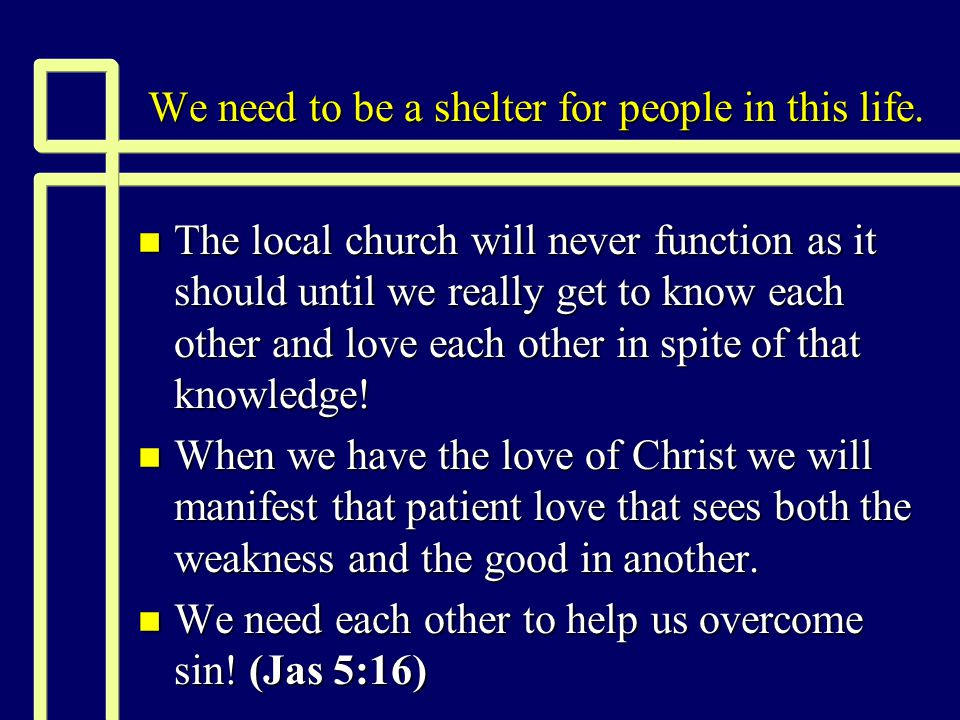 How we can provide refuge today n We must be willing. (Jas 2:15-16)
