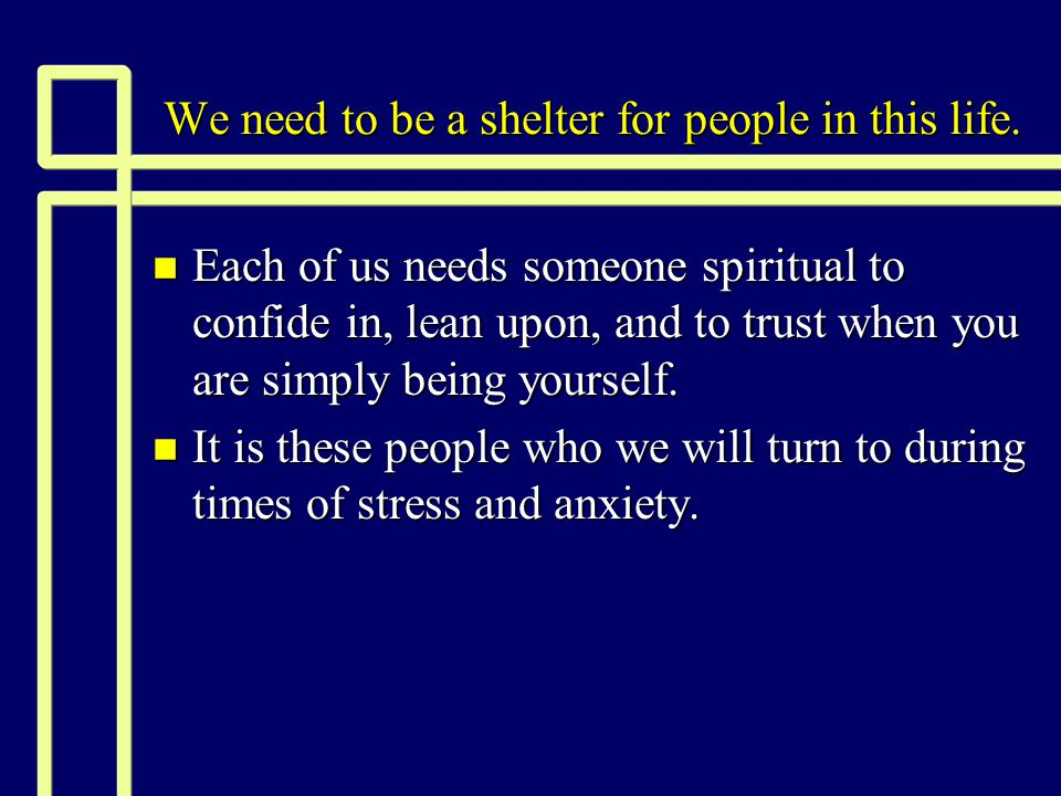 How we can provide refuge today n Buried pain leaks into our emotional system and wreaks havoc there.