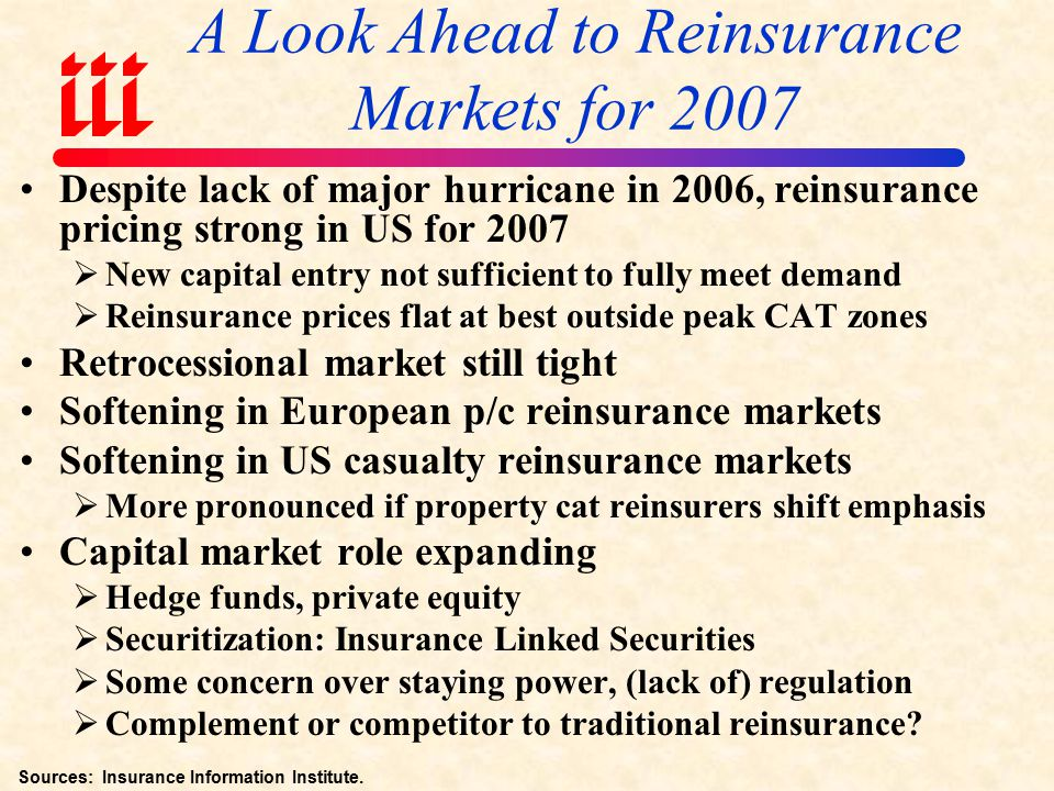 Changes in the 2006 Reinsurance Markets Property CAT reins.