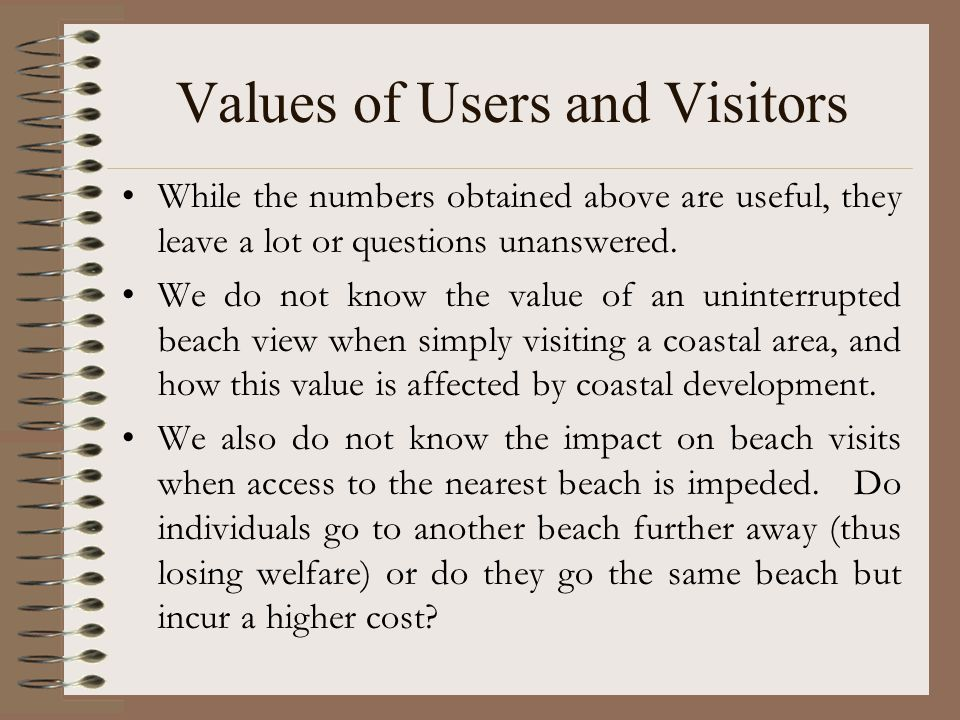 Values of Users and Visitors While the numbers obtained above are useful, they leave a lot or questions unanswered.