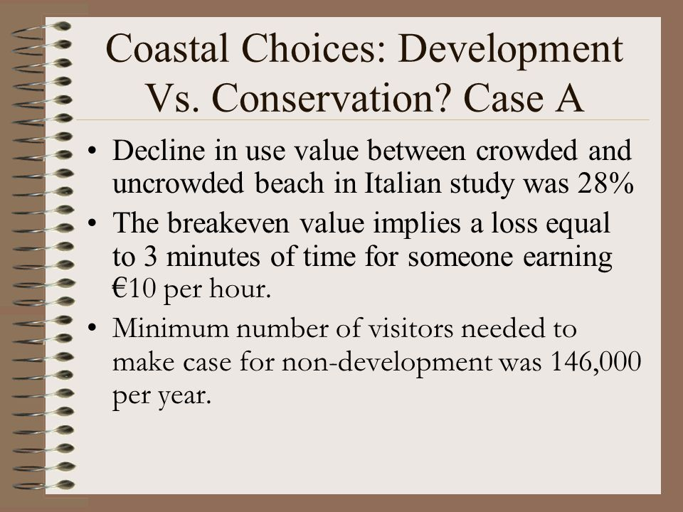 Coastal Choices: Development Vs.Conservation.