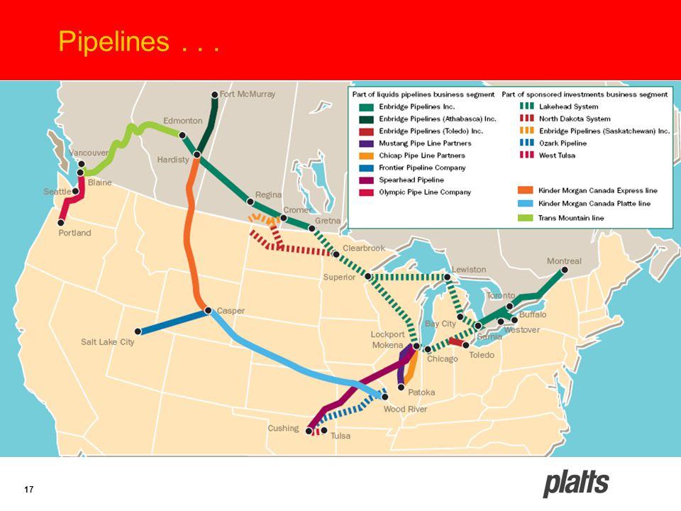 17 Pipelines...