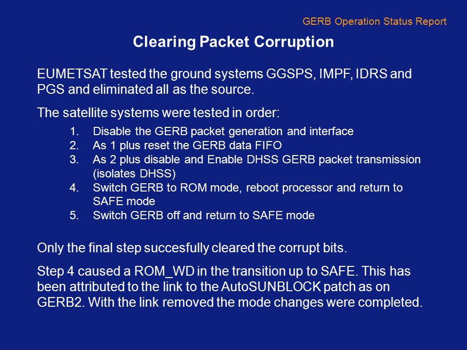 GERB Operation Status Report GERB2 Patch 14 – New QFM Interrupt QFM status sensors not radiation hard, subject to bit flips.