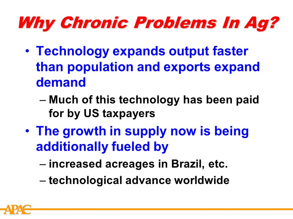 APCA Why Chronic Problems In Ag.