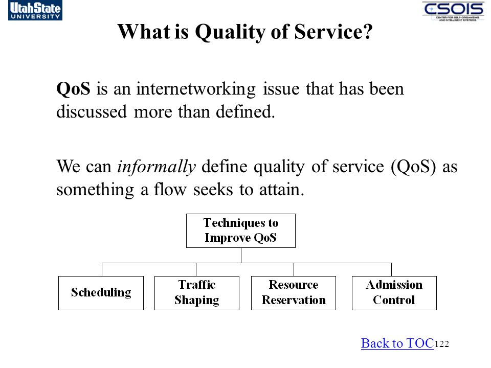 122 What is Quality of Service.
