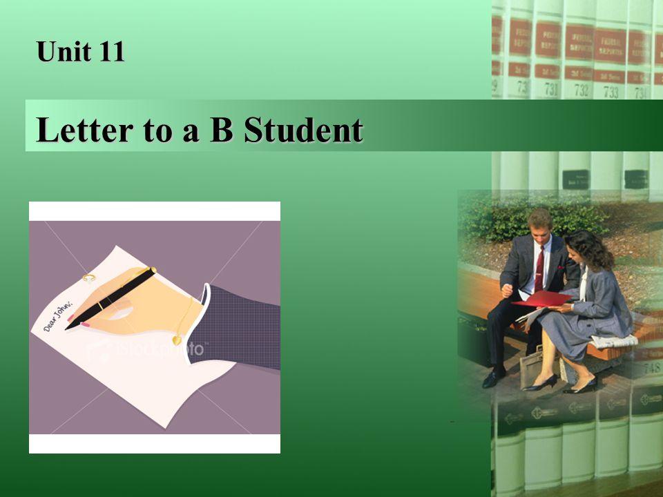 Letter to a B Student Text text text text text text text text text text text.