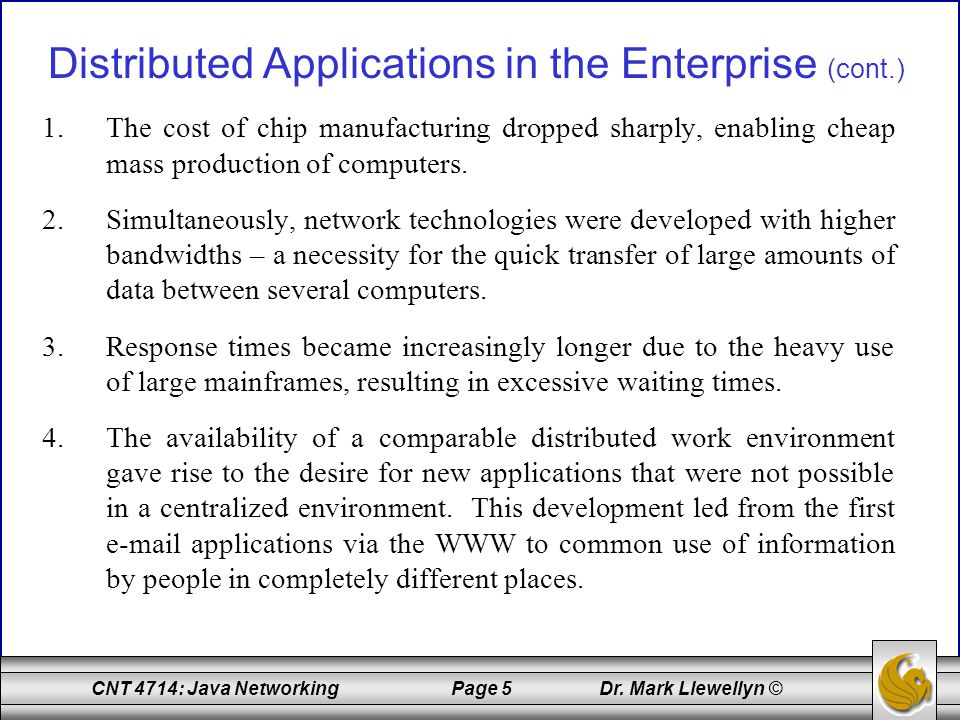 CNT 4714: Java Networking Page 96 Dr.