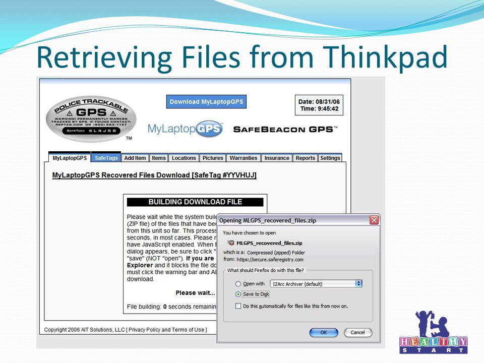 Retrieving Files from Thinkpad