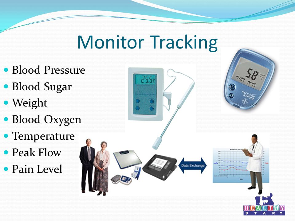 Monitor Tracking Blood Pressure Blood Sugar Weight Blood Oxygen Temperature Peak Flow Pain Level