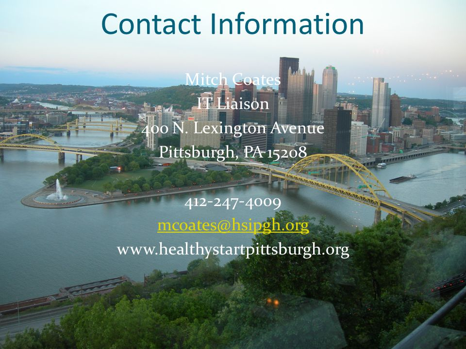 Contact Information Mitch Coates IT Liaison 400 N.