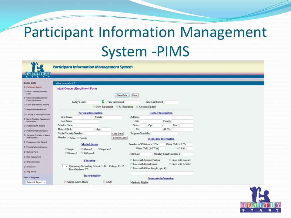Participant Information Management System -PIMS