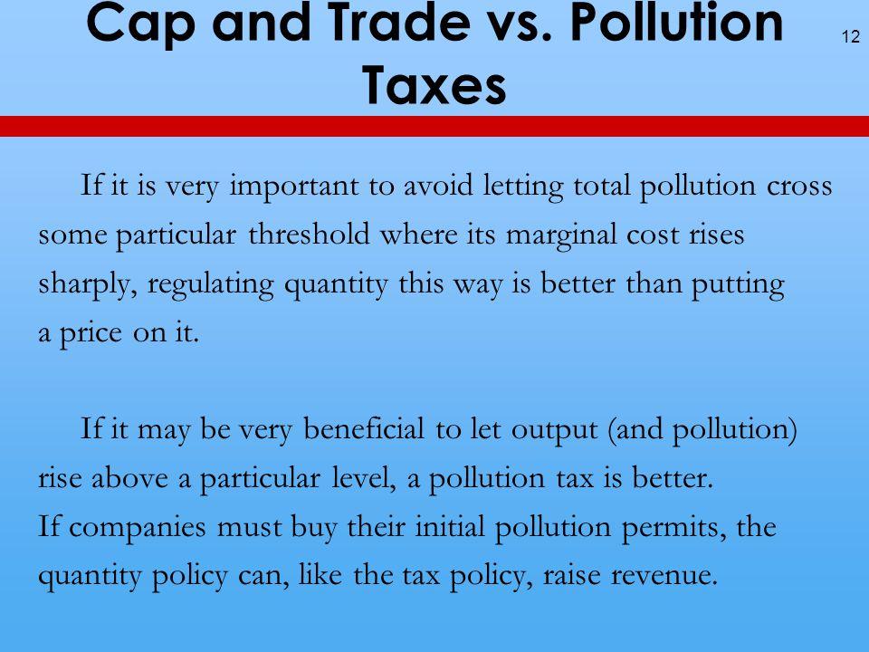 Cap and Trade vs.