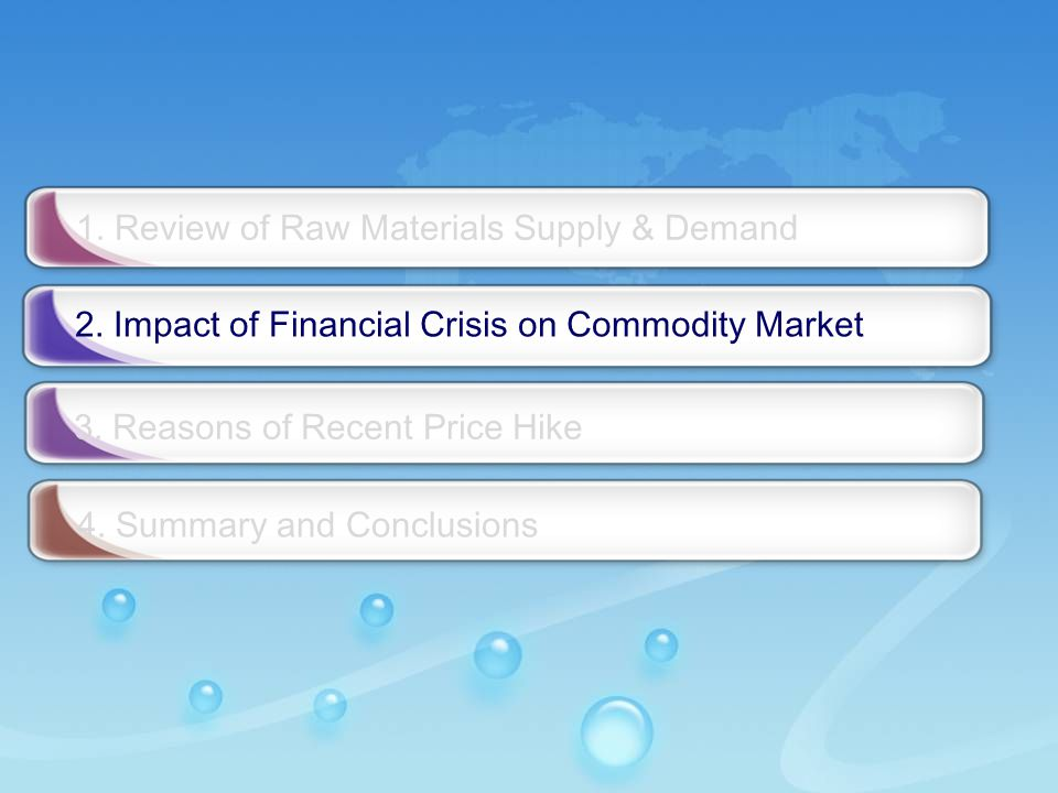 - 13 - 2. Impact of Financial Crisis on Commodity Market 3.
