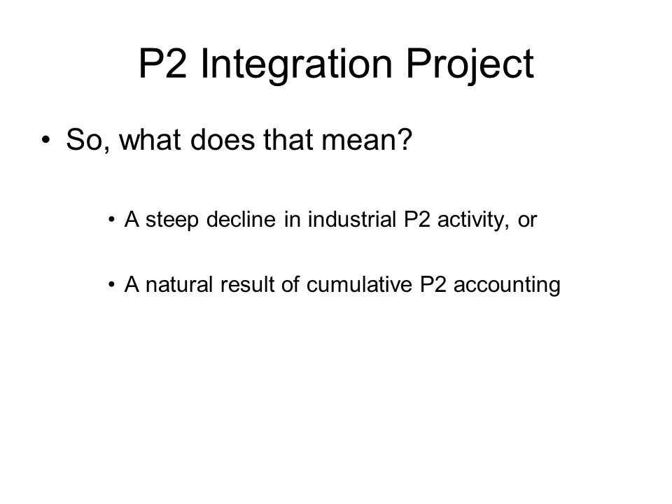 P2 Integration Project