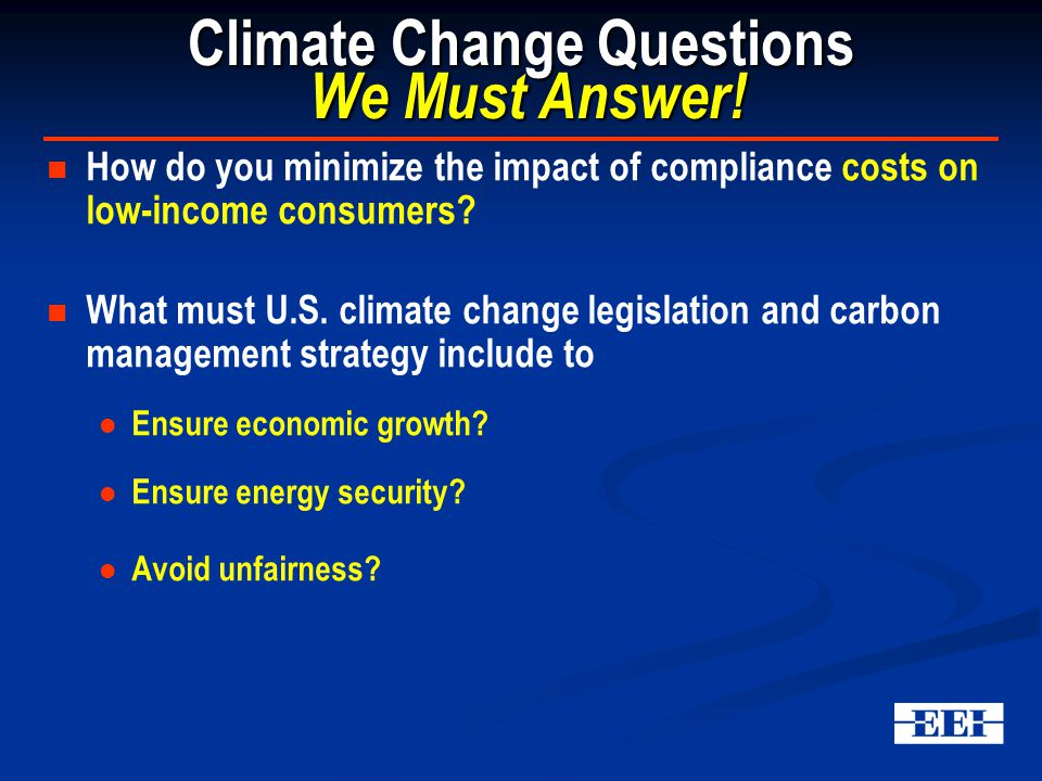 Climate Change Questions We Must Answer.