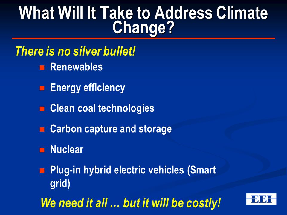 What Will It Take to Address Climate Change.