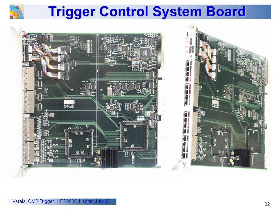32 J. Varela, CMS Trigger, HEP2005, Lisbon, July 05 Trigger Control System Board