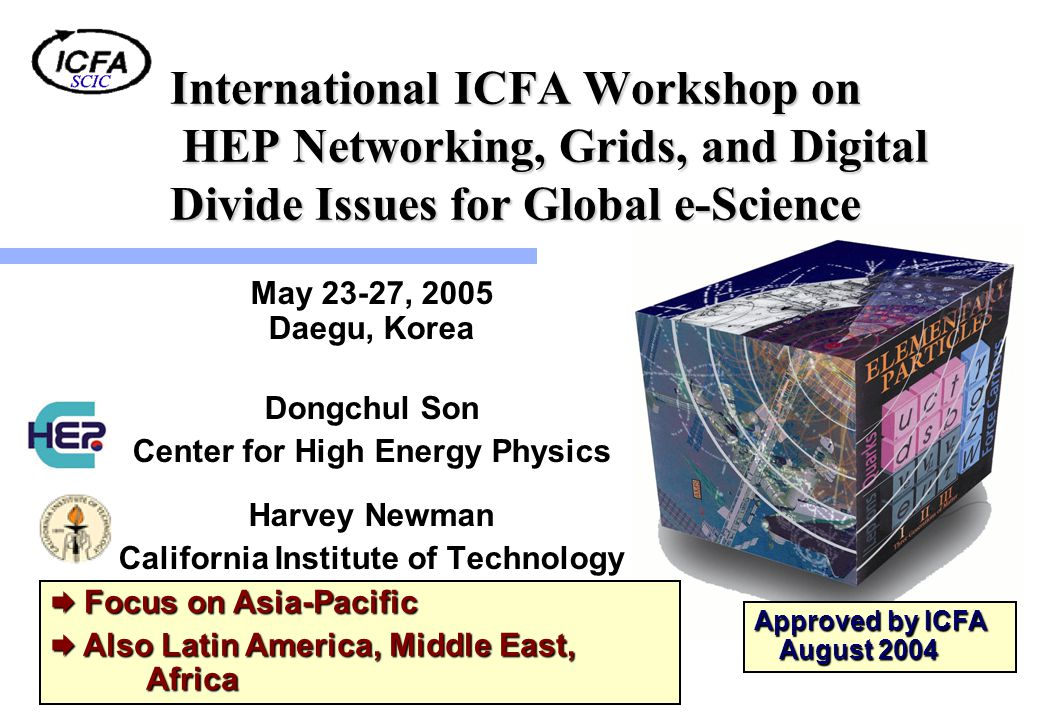 International ICFA Workshop on HEP Networking, Grids, and Digital Divide Issues for Global e-Science May 23-27, 2005 Daegu, Korea Dongchul Son Center